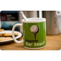 persoanlised golf mug -  anyone for tee?