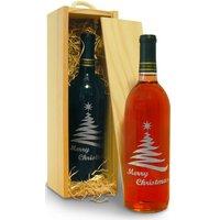 christmas wine tree design