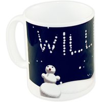 personalised snowman mug