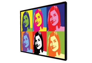 Personalised A3 Warhol Pop Art Print